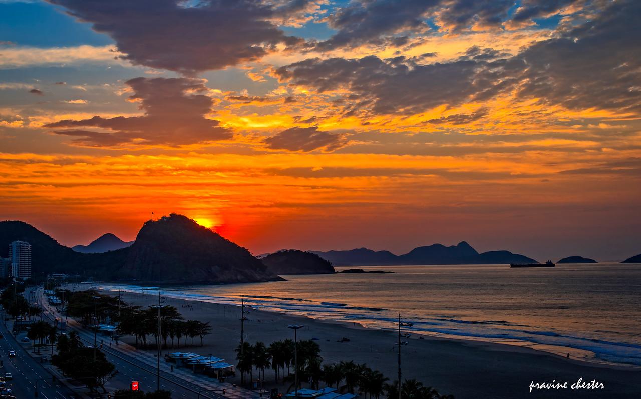 Sunrise at Copacabana