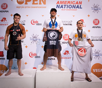 Medium Heavy, Brown Belt, Adult podium: Luciano Cristovam (Gold). Stephen Martinex (Silver). Juan Pablo Garcia (Bronze).