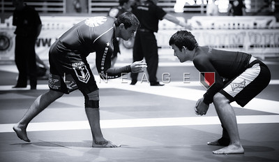 Rolles Gracie (right) in his only match. The match was for the Gold.