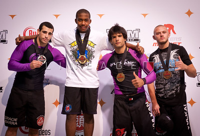 Middleweight, Purple Belt, Adult podium: Christian Broadnax (Gold). Brian Morizi (Silver). Filip Sadowski & Thomas Pyarzan (Bronze).