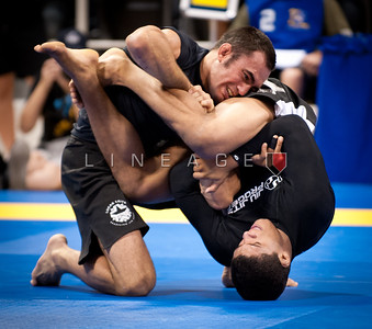 Lucas Leite (top) vs. Gilbert Durinho Burns in this black belt middleweight match.