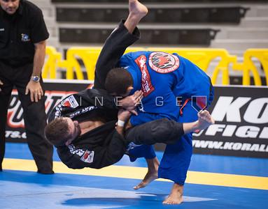 Pablo Silva from Gracie Barra vs. Sebastian Lalli from Checkmat BJJ in the Black Belt Light Feather Quarter Finals.