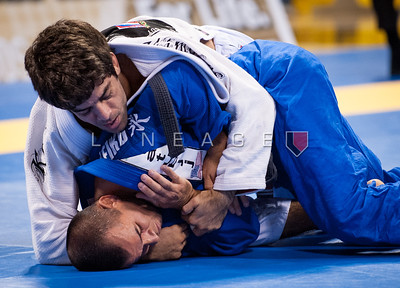 Rogerio Taborda from Tatu BJJ vs. Felipe Costa from Brasa in the Black Belt Rooster Division Quarter Finals.