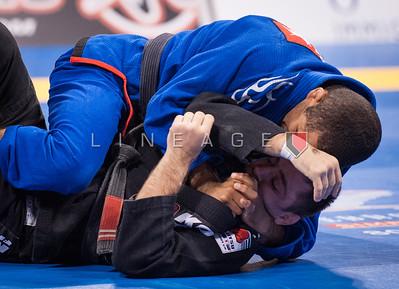 Pablo Silva from Gracie Barra vs. Sebastian Lalli from Checkmat BJJ in the Black Belt Light Feather Semi Finals.