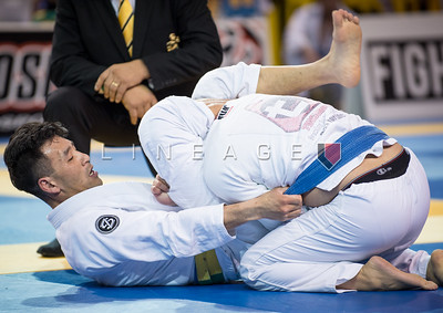 Robert Park X Joseph Cruz in the Master 2, blue belt, feather quarter final.