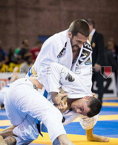 Chris Polvorosa X David Ferri in the Master 2, blue belt, feather quarter final.