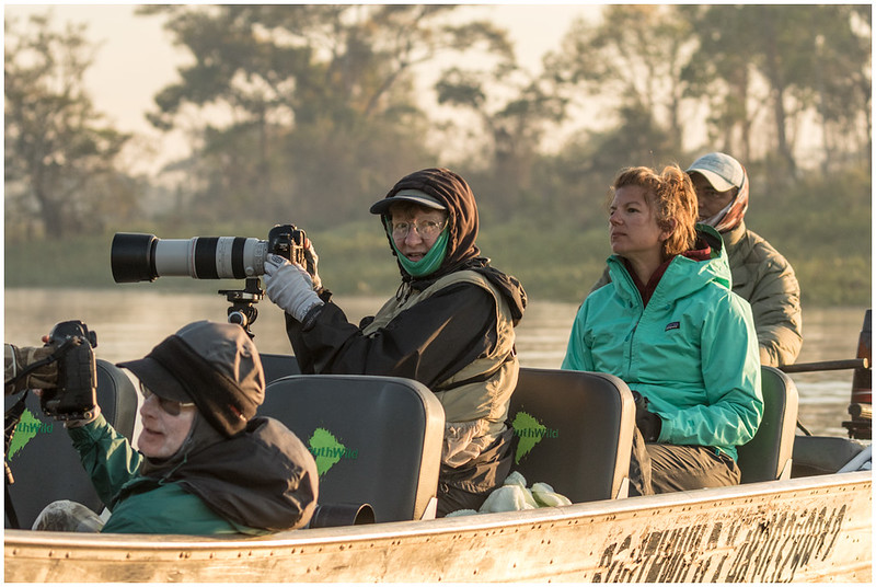 Becky at work on the river. With Joe McDonald and Kim Driscoll.  (Shot by Jack Moskowitz.)