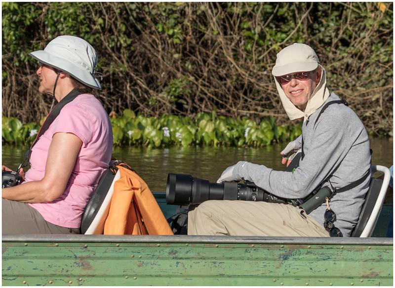 Phil and Ellen on river. (Shot by Jack Moskowitz.)