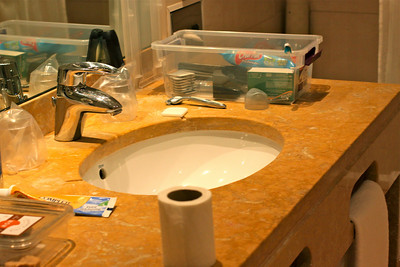 Our fancy sink. This hotel is so fancy! Seriously! One of the nicest I've been in.