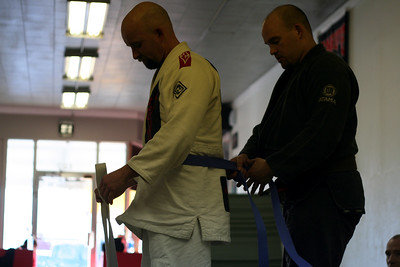 Bro. Ray earns his Blue Belt.