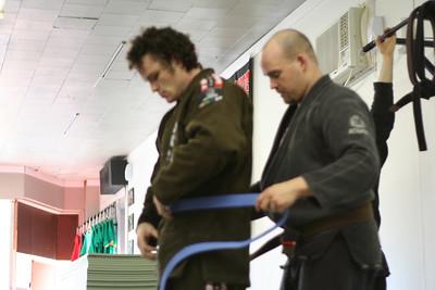 Jeremy earns his Blue Belt in BJJ.