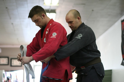 Adam earns his Blue Belt in BJJ.