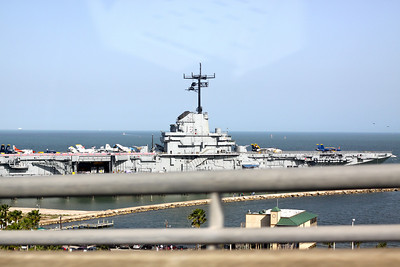 The USS Lexington. I took this pic while driving over a huge bridge.