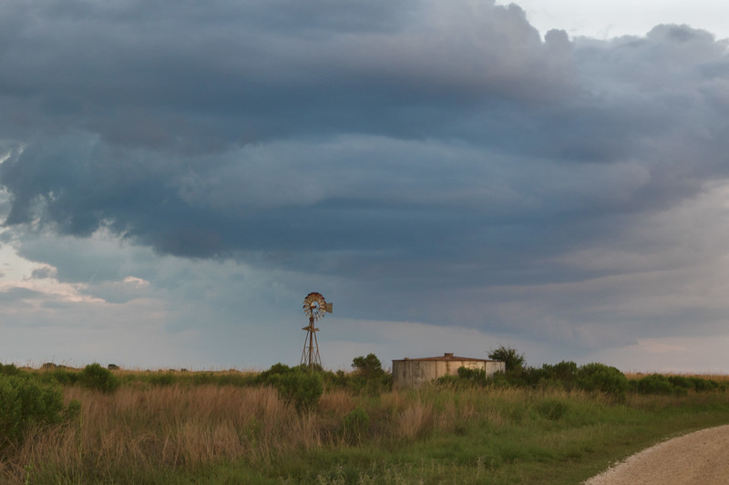 Windmill and Rain Clouds