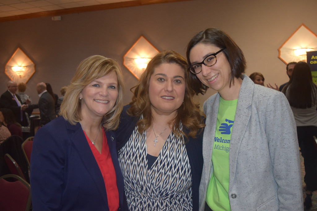 . Deputy County Executive and One Macomb Chair Pam Lavers, left, along with Sue Kattula, program manager of behavioral health for the Chaldean Community Foundation and Welcoming Michigan director Christine Sauve enjoying their time at the Breakfast of Nations at the Carpathia Club in Sterling Heights.