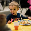 Mason Charon, 2, enjoys some Easter candy with his breakfast during the Breakfast with the Bunny at the Fitchburg Senior Center on Saturday, April 8, 2017. Proceeds from the event will go towards Fitchburg's annual Civic Days events. SENTINEL & ENTERPRISE / Ashley Green