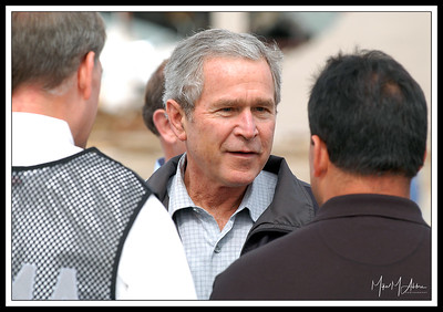 President Bush after Tornado