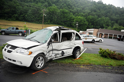 This van was involved in a fatal collision with a tractor trailer along Route 522 in Beaver Springs on Thursday morning, resulting in the death of Geraldine Hassinger.