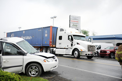 A collision between the Dodge Caravan and the DDI tractor trail resulted in the fatality of Geraldine Hassinger along Route 522 in Beaver Springs on Thursday morning.