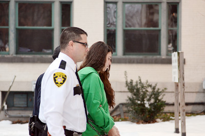 Miranda Barbour, escorted by Northumberland County Sheriff Chad Reiner, enters the Northumberland County Courthouse for her preliminary hearing for the alleged murder of Troy LaFerrara on Friday morning in Sunbury.