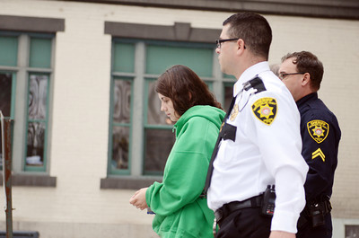 Miranda Barbour is led out of the Northumberland County Courthouse, by Sheriff Chad Reiner, on Friday morning after her preliminary hearing for the alleged murder of Troy LaFerrara. Barbour plead not guilty on all charges and will stand trial.