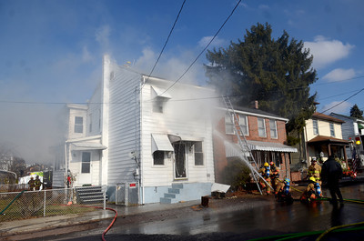 Several different fire companies responded to a house fire on Spruce Street in Danville on Thursday afternoon.