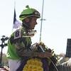 Afleet Again and Cornelio Velasquez winning the Marathon