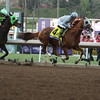 California Chrome  lead the first time by