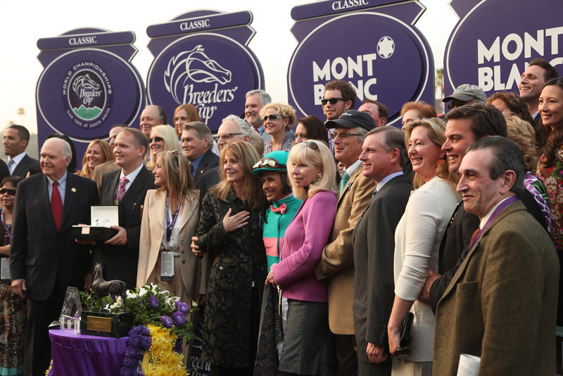 Arcadia, CA - Santa Anita - Zenyatta with Mike Smith aboard wins the $5 Million Breeders' Cup Classic for trainer John A Sherreffs and owner Mr and Mrs. Jerome Moss here today, Saturday November 7, 2009 during the Breeders' Cup World Thoroughbred Championships. Photo by © Breeders' Cup/Todd Buchanan 2009