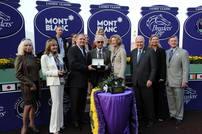 Arcadia, CA - Santa Anita - Life Is Sweet with Garret Gomez aboard wins the $2 Million Breeders' Cup Ladies' Classic for trainer John A Shirreffs and owner Pam and Martin Wygod here today, Friday November 6, 2009 during the Breeders' Cup World Thoroughbred Championships. Photo by © Breeders' Cup/Dan Dry 2009