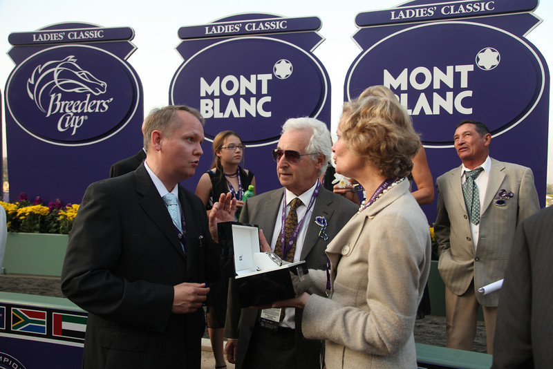 Arcadia, CA - Santa Anita - Life Is Sweet with Garret Gomez aboard wins the $2 Million Breeders' Cup Ladies' Classic for trainer John A Shirreffs and owner Pam and Martin Wygod here today, Friday November 6, 2009 during the Breeders' Cup World Thoroughbred Championships. Photo by © Breeders' Cup/Todd Buchanan 2009