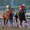 Fort Larned, Brian Hernandez up, holds off Mucho Macho Man and Mike Smith, to win the $5 million Breeders  Cup Classic....<br /> © 2012 Rick Samuels/The Blood-Horse
