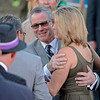 Caption: Steve Byk hugs Tracie Wilkes<br /> Fort Larned with Brian Hernandez Jr. wins the Breeders' Cup Classic.<br /> Breeders' Cup races at Santa Anita near Arcadia, California, on Nov. 3, 2012.<br /> BCRACES2012        Classic  image713<br /> Photo by Anne M. Eberhardt