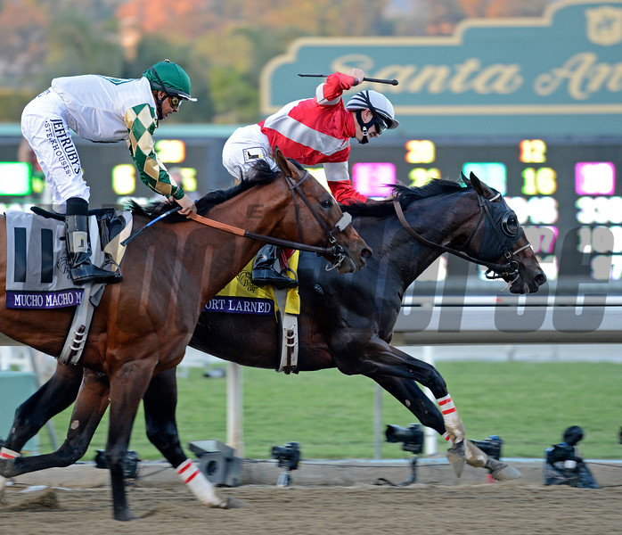 Caption: Fort Larned with Brian Hernandez Jr. wins the Breeders' Cup Classic.<br /> Breeders' Cup races at Santa Anita near Arcadia, California, on Nov. 3, 2012.<br /> BCRACES2012        Classic  image686<br /> Photo by Anne M. Eberhardt