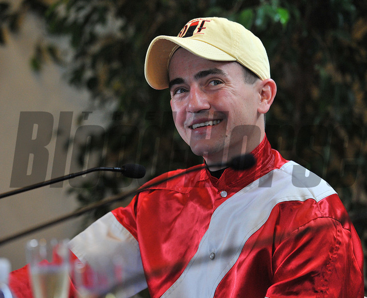 Breeders Cup Classic winning jockey Brian Hernandez...<br /> .© 2012 Rick Samuels/The Blood-Horse