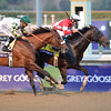 Caption: Fort Larned with Brian Hernandez Jr. wins the Breeders' Cup Classic. Mucho Macho Man in second with Mike Smith<br /> Breeders' Cup races at Santa Anita near Arcadia, California, on Nov. 3, 2012.<br /> BCRACES2012        Classic  image680<br /> Photo by Anne M. Eberhardt