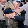 Caption: Charlie Lopresti, trainer of Wise Dan, hugs Tracie Wilkes, wife of Fort Larned trainer Ian Wilkes.  Fort Larned with Brian Hernandez Jr. wins the Breeders' Cup Classic.<br /> Breeders' Cup races at Santa Anita near Arcadia, California, on Nov. 3, 2012.<br /> BCRACES2012        Classic  image694<br /> Photo by Anne M. Eberhardt