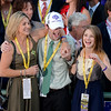 Caption: Trainer Ian Wilkes family, l-r, wife Tracie, son Brody, and daughter Shelby.<br /> Fort Larned with Brian Hernandez Jr. wins the Breeders' Cup Classic.<br /> Breeders' Cup races at Santa Anita near Arcadia, California, on Nov. 3, 2012.<br /> BCRACES2012        Classic  image727<br /> Photo by Anne M. Eberhardt