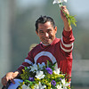 Jockey Corey Nakatani after winning the Breeders Cup Dirt Mile...<br /> © 2012 Rick Samuels/The Blood-Horse