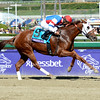 Caption: Groupie Doll with Rajiv Maragh wins the Filly and Mare Sprint<br /> Breeders' Cup races at Santa Anita near Arcadia, California, on Nov. 3, 2012.<br /> BCRACES2012        FillyMareSprint   image<br /> Photo by Anne M. Eberhardt