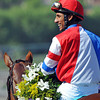Rajiv Maragh after winning the Breeders Cup F&M Sprint...<br /> © 2012 Rick Samuels/The Blood-Horse