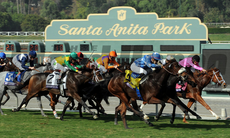Flotilla wins the 2012 Breeders' Cup Juvenile Fillies Turf.<br /> Photo by Dave Harmon