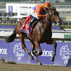 Beholder winning the 2012 Breeders' Cup Juvenile Fillies<br /> Photo by: Skip Dickstein