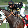 Hightail (rail) Rajiv Maragh up, after winning the Breeders Cup Juvenile Sprint...<br /> © 2012 Rick Samuels/The Blood-Horse