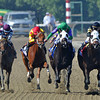 Hightail (rail) Rajiv Maragh up, holds off Merit Man to win the Breeders Cup Juvenile Sprint...<br /> © 2012 Rick Samuels/The Blood-Horse