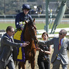 George Vancover wins the Juvenile Turf <br /> Photo by Skip Dickstein