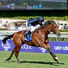 Caption: George Vancouver with Ryan Moore wins the Juvenile Turf<br /> Breeders' Cup races at Santa Anita near Arcadia, California, on Nov. 3, 2012.<br /> BCRACES2012         JUVTurf   image538<br /> Photo by Anne M. Eberhardt