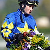Rosie Napravnik after winning the Breeders Cup Juvenile...<br />  © 2012 Rick Samuels/The Blood-Horse