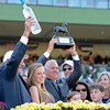 Caption: Shanghai Bobby with Rosie Napravnik pres with l-r, Jack Wolf, Todd Pletcher<br /> Breeders' Cup races at Santa Anita near Arcadia, California, on Nov. 3, 2012.<br /> BCRACES2012      Turf  image189<br /> Photo by Anne M. Eberhardt