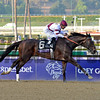 Caption: Royal Delta with Mike Smith wins the Ladies Classic. <br /> Breeders' Cup races at Santa Anita near Arcadia, California, on Nov. 2, 2012.<br /> BCRACES2012          Ladies Classic1    image309<br /> Photo by Anne M. Eberhardt